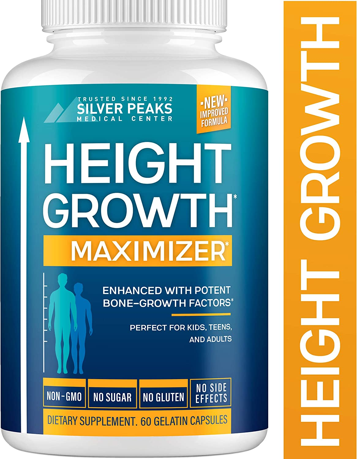 Amazon Com Height Growth Maximizer Natural Height Pills To Grow Taller Made In Usa Growth Pills With Calcium For Bone Strength Get Taller Supplement That Increases Bone Growth