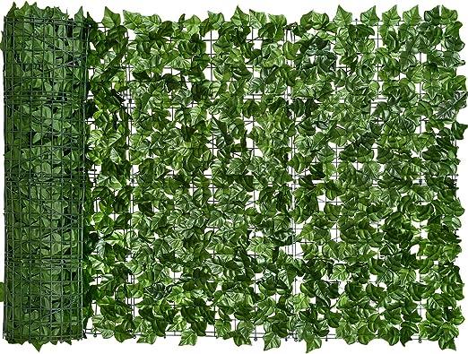 YQing Pantalla de Cerca de privacidad de Hiedra Artificial, Cerca de setos Artificiales y decoración de Hojas de Vid de Hiedra Falsa para decoración al Aire Libre, jardín (100cm x 300cm): Amazon.es:
