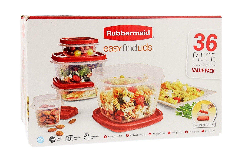 Rubbermaid Easy Find Lids 36 piece