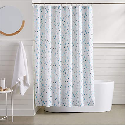 Image Unavailable Not Available For Color AmazonBasics Raindrop Shower Curtain