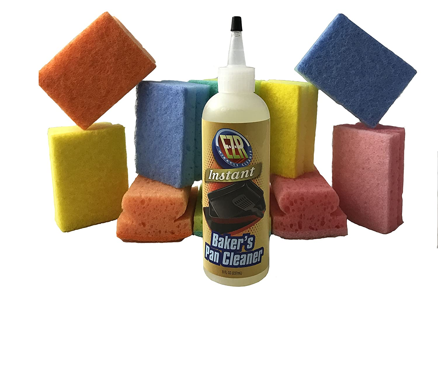 instant baker s pan cleaner with 10 scrubbing sponges