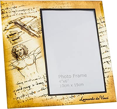"""JOZEFINA ATELIER CR-044-5017 Photo Frame Decorated with Da Vinci Painting, 4""""X6"""""""