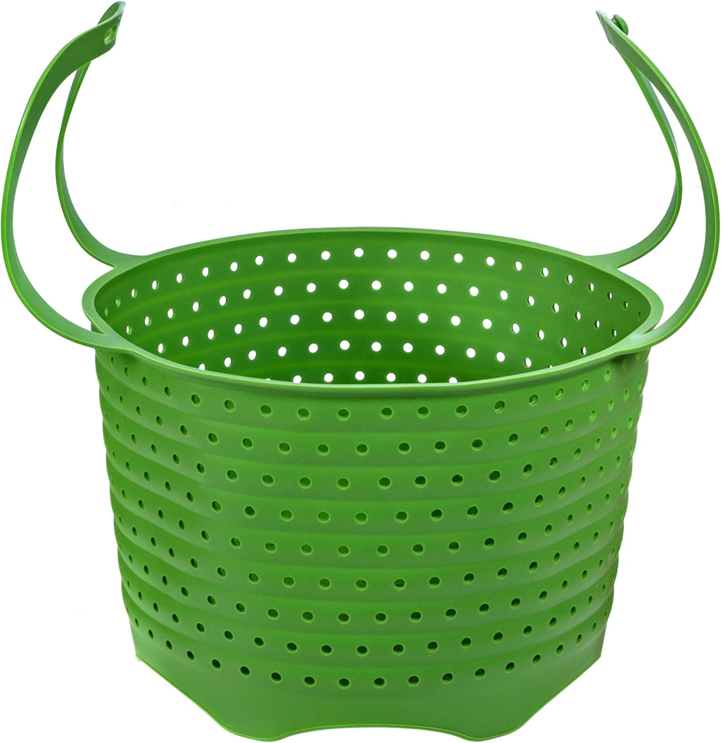 Silicone Steamer Basket | Foldable, Space-Saving | Fits 6,8 Qt Instant Pot, Ninja Foodi and Other Pressure Cookers