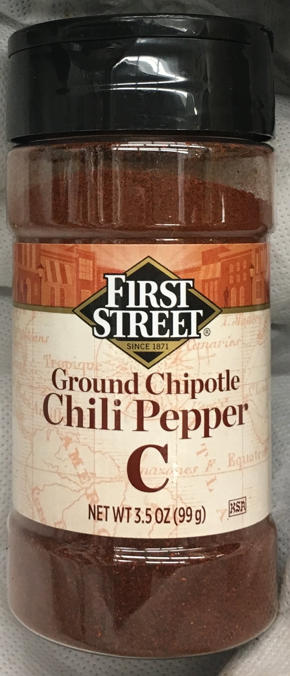 3.5oz First Street Ground Chipotle Chili Pepper, Pack of 1
