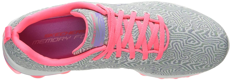 Skechers Women's Skech Air 2.0 Pathways Fashion Sneaker B01MXFKR34 8.5 B(M) US|Grey/Pink