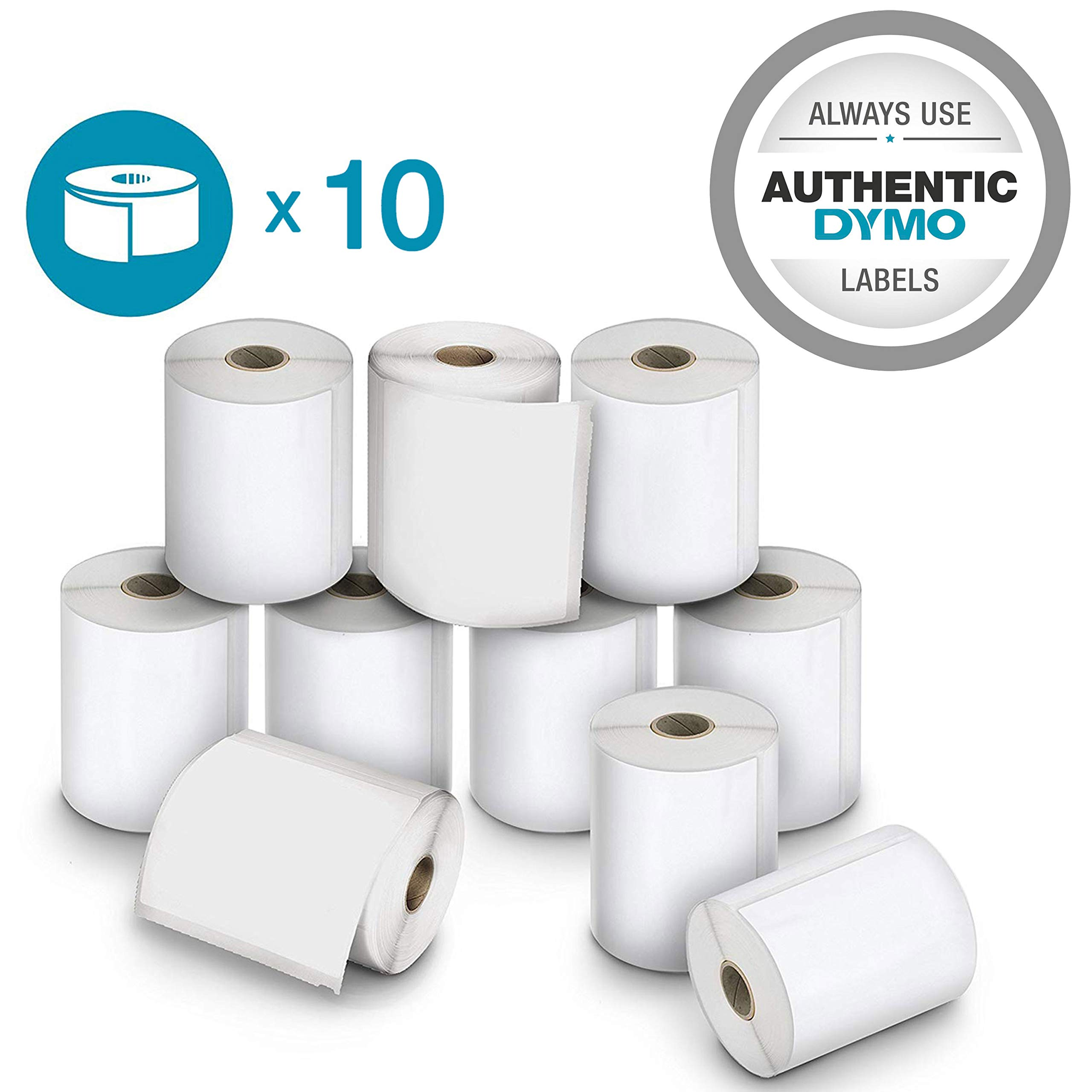 DYMO Authentic LW Extra Large Shipping Labels | Authentic DYMO Labels for LabelWriter 4XL Label Printer (4'' x 6''), 10 Roll of 220 (2200 Total)