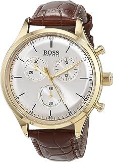 298a5edb2 Amazon.com: Hugo Boss Men's 1513198 Black/Grey Stainless Steel Watch ...