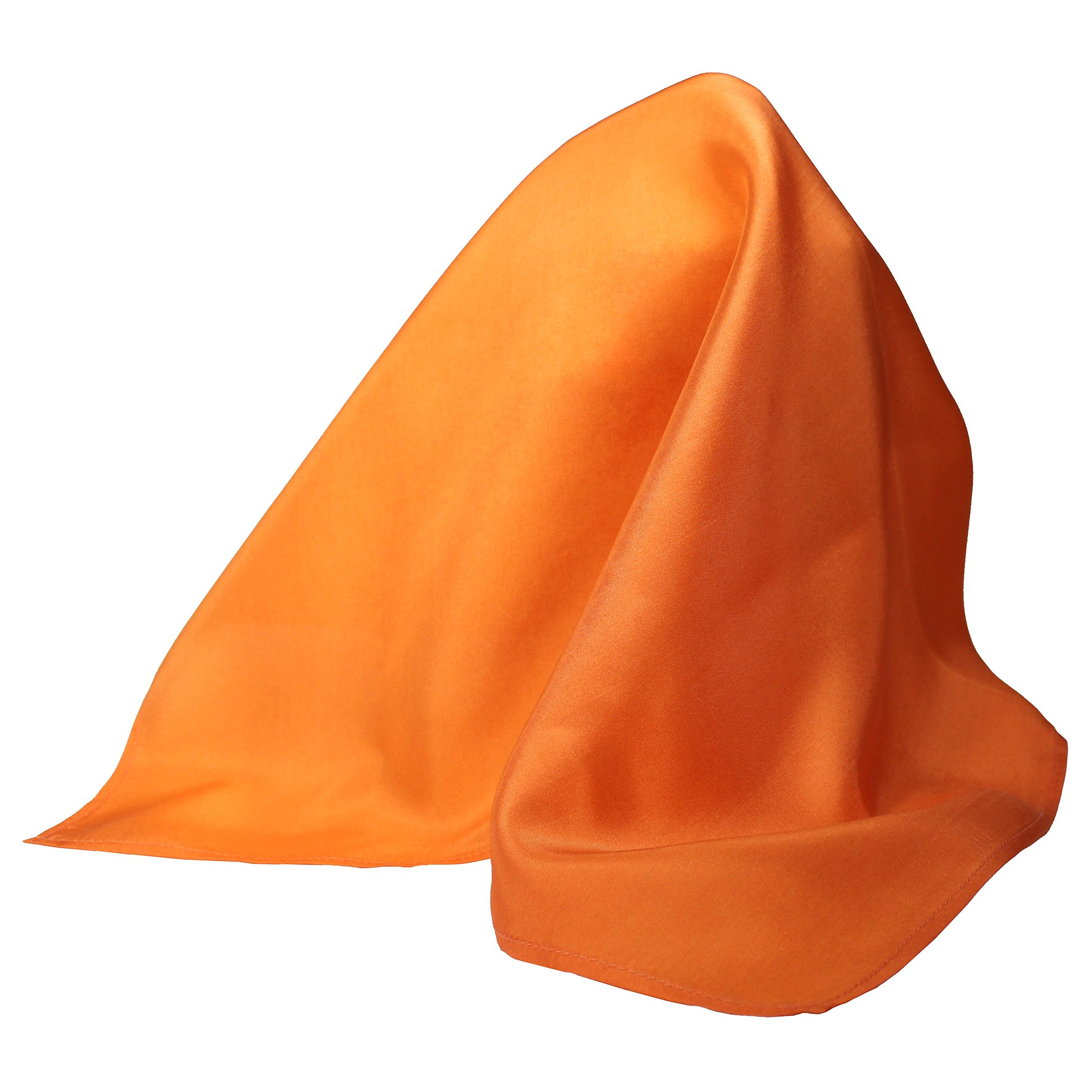 Fine Orange Silk Pocket Square by ROYAL SILK- Full-Sized 16''x16'' by Royal Silk (Image #1)