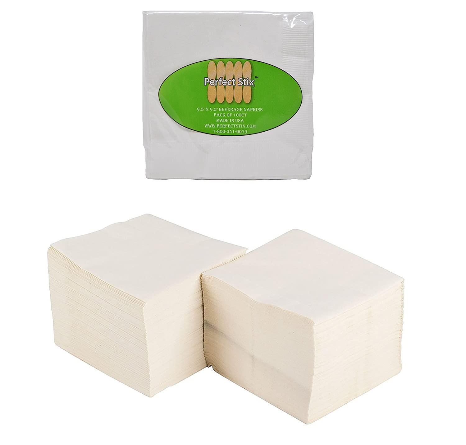 2 Ply White Beverage Napkins (Pack of 100ct)