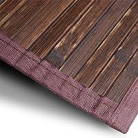 casa pura Bambusteppich Oak | für Bad und Wohnzimmer | natürlich wohnen Bambus | Bambusmatte in Vielen Größen
