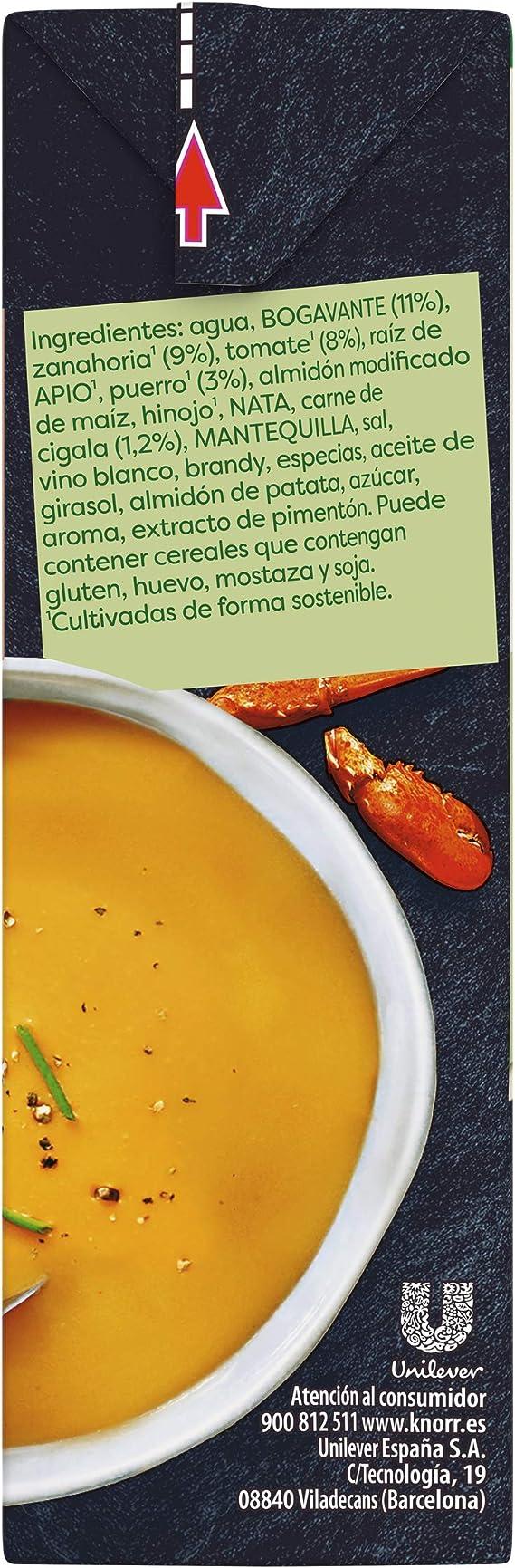 Knorr Gourmet, Crema de bogavante y cigalas - 500 ml.: Amazon.es: Alimentación y bebidas