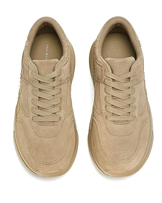 671def6d885ba Amazon.com: Zara Women Split Suede Platform Sneakers 5417/301: Shoes