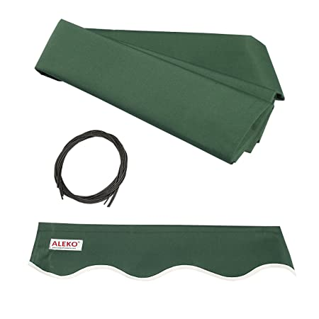 ALEKO FAB20X10GREEN39 Retractable Awning Fabric Replacement 20 x 10 Feet Green