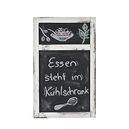 Mendler Werbetafel HWC-C51 55x34x2cm Shabby-Look Vintage ~ braun Wandtafel Kreidetafel