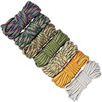 UOOOM 7 pcs Multicolore Multifonction Paracordes pour Parachute Bracelet