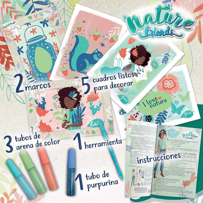18934 Educa- Nature Friends Manualidades Ga/ïa Arena Purpurina A Partir de 7 a/ños. Incluye 5 Cuadros autoadhesivos 2 Marcos y esp/átula