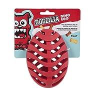 Petmate Dogzilla Dino Egg Toy, Red