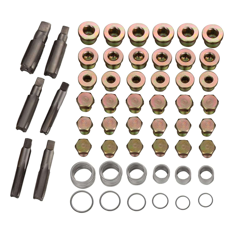 Juego de herramientas de reparaci/ón para el c/árter Dromedary Caja de herramientas para drenajes en la caja de cambios. 114 piezas