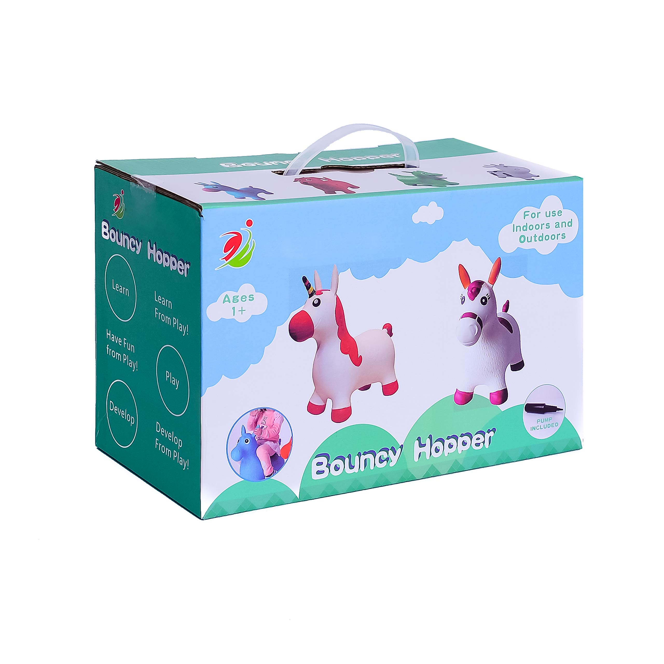 Kiddie Play Hopper Ball Unicorn Inflatable Hoppity Hop Bouncy Horse Toy (Pump Included) by Kiddie Play (Image #7)