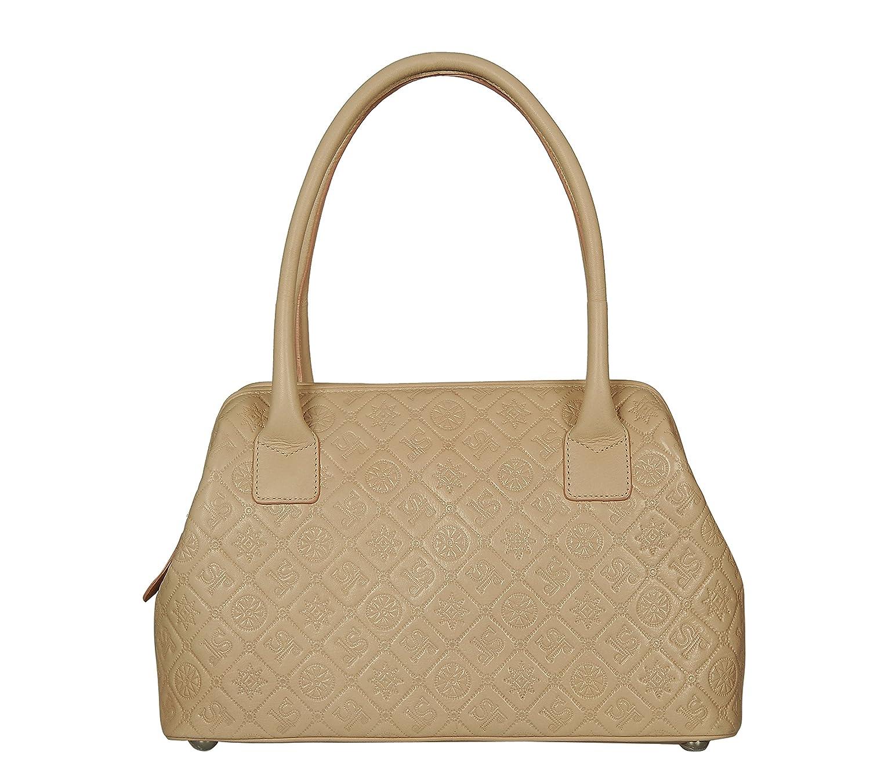 SILVIO TOSSI Damen Handtasche mit Griff, beige, Einheitsgrö ß e SILVIO TOSSI - Swiss Label 10996-20 10996-20_Beige-onesize