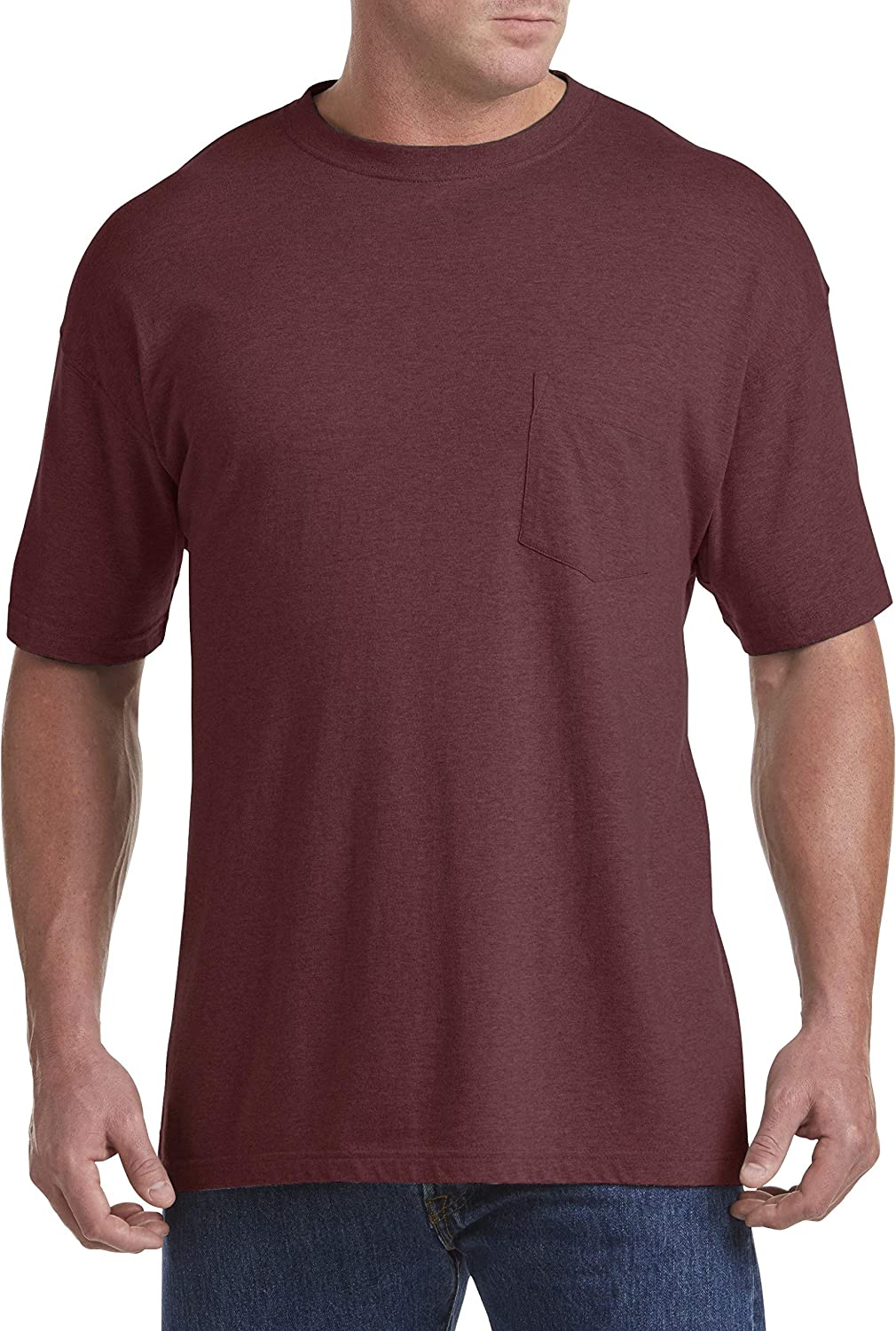 Harbor Bay by DXL Big and Tall Wicking Jersey Pocket T-Shirt