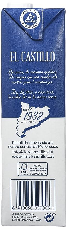 El Castillo Leche Semidesnatada - Pack 6 x 1 L - Total: 6 L: Amazon.es: Amazon Pantry