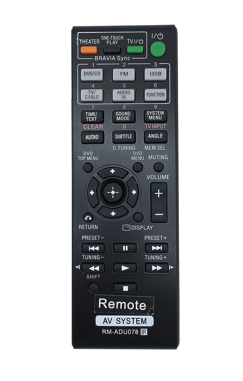 Control Remoto Sony RM-ADU078 para DAV-TZ710 HBD-DZ170...