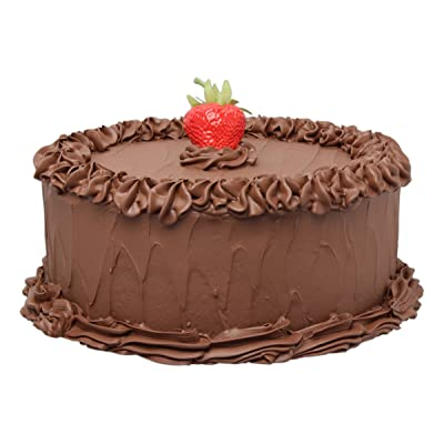 "Just Dough It 10"" Realistic Chocolate Frosted Cake with Strawberry Replica Prop: Home & Kitchen"