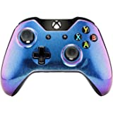 eXtremeRate Soft Touch Anti Slip Front Shell Faceplate Top Case Upper Cover Replacement Parts for Microsoft Xbox One Controller (Chameleon)