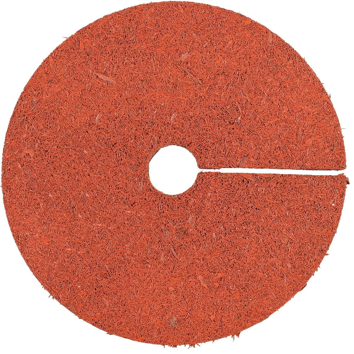 International Mulch Rubber Mulch Tree Ring, 24'' Diameter, Red by International Mulch