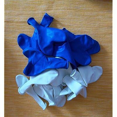 25 Ballons blanc bleu herzluftballons être produit en union européenne