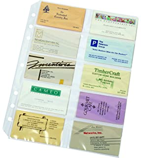 tops cardinal poly business card refill page 10 pack 7860 000