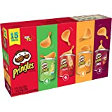Pringles Potato Crisps Chips, Flavored Variety Pack, Original, Cheddar Cheese, Sour Cream and Onion, BBQ, 20.6 oz (15 Cans)
