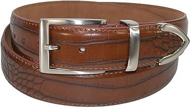 Brown Crocodile Skin High Quality Fashion Dress Belt