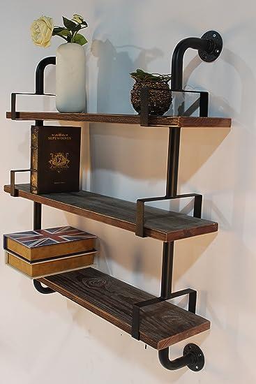 Genial Reclaimed Wood U0026 Industrial DIY Pipes Shelves Steampunk Rustic Urban Pipe  Shelf ...