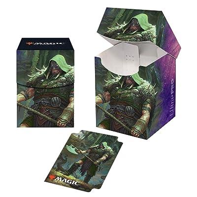 Magic: The Gathering Throne of Eldraine - Garruk, Cursed Huntsman PRO 100+ Deck Box: Toys & Games