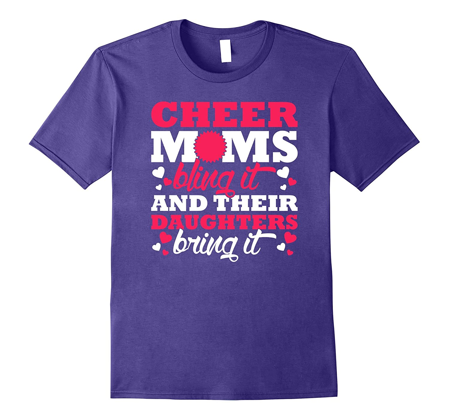 Cheer Moms Bling It Daughters Bring It Tee Vision T-Shirt-TH