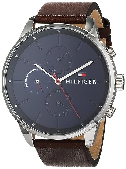f972a3224020 Tommy Hilfiger Reloj Multiesfera para Hombre de Cuarzo con Correa en Cuero  1791487