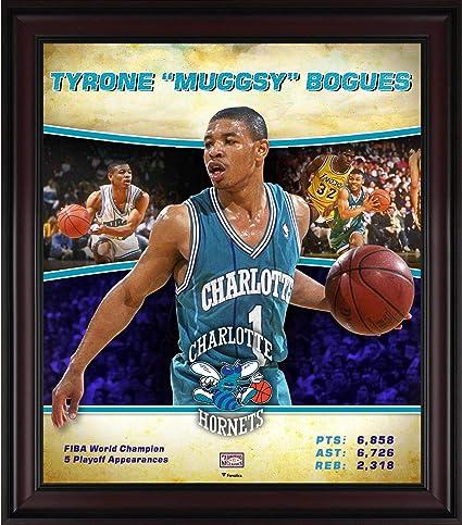 74fbb9836 Tyrone quot Muggsy quot  Bogues Charlotte Hornets Framed 15 quot  x  17 quot  Hardwood Classics Player