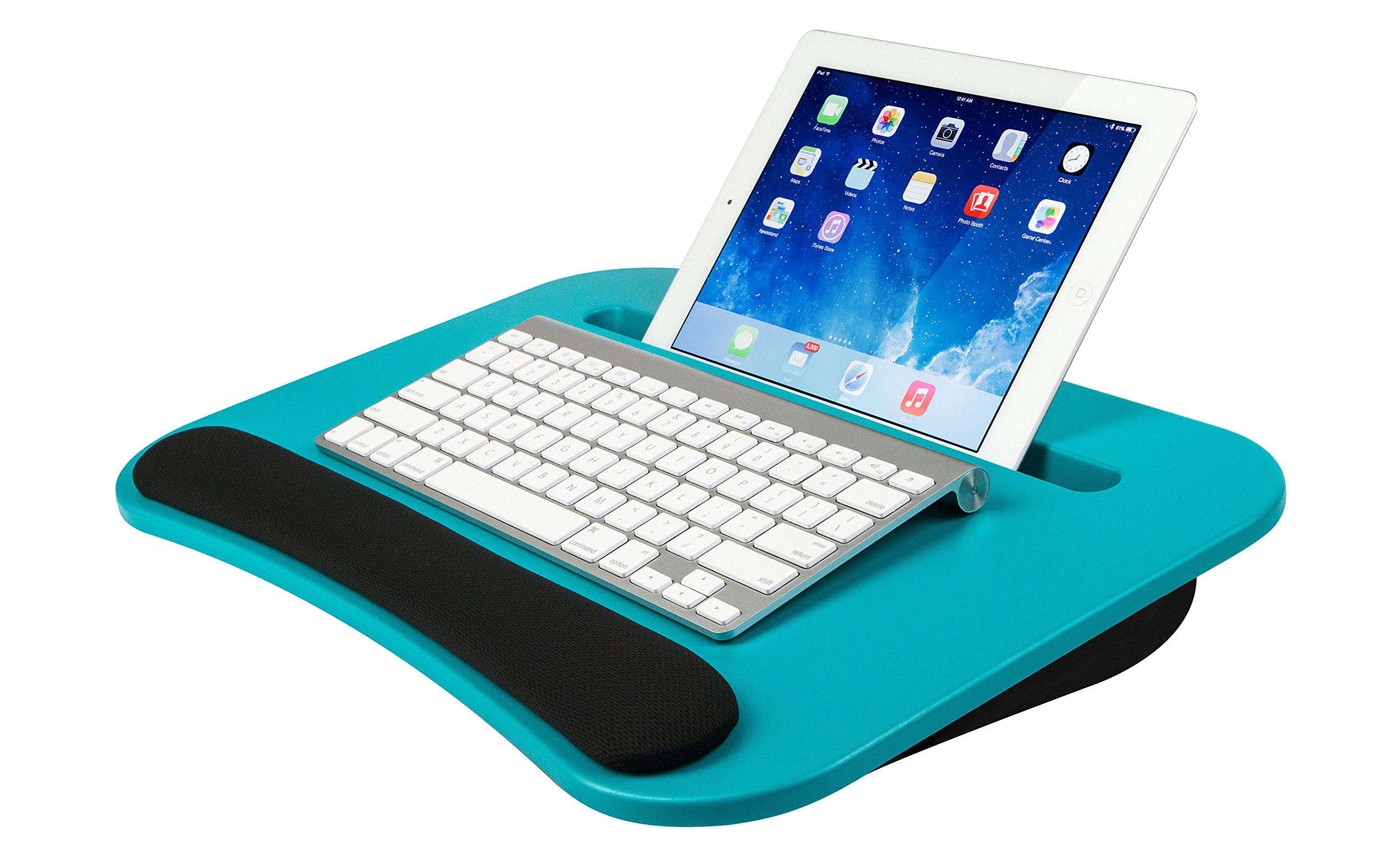 LapGear eDesk Lap Desk - Turquoise (Fits up to 10.5'' Tablet/15.6'' Laptop)