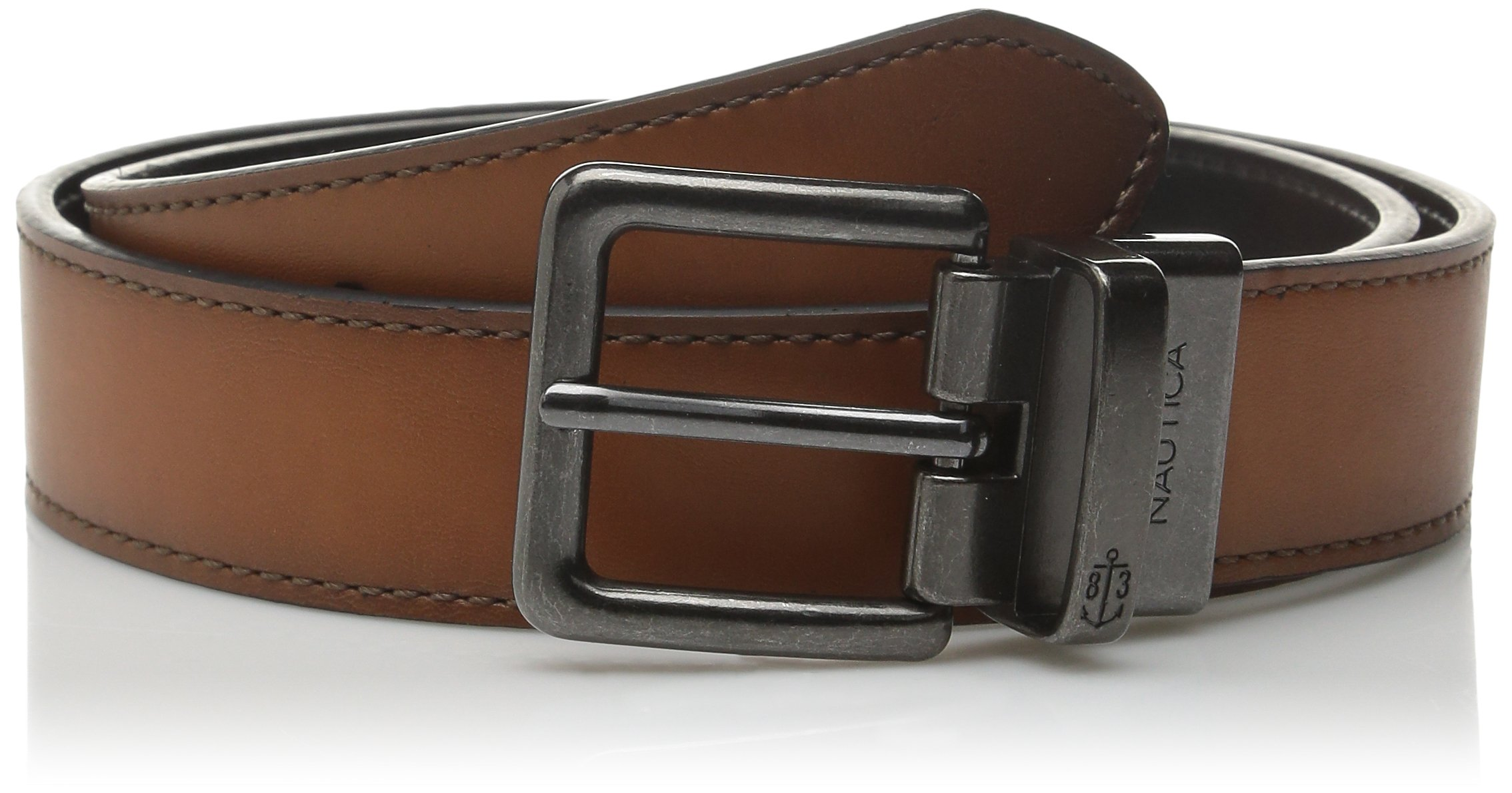 Nautica Men's Battan Reversible Belt,Tan/Black,22