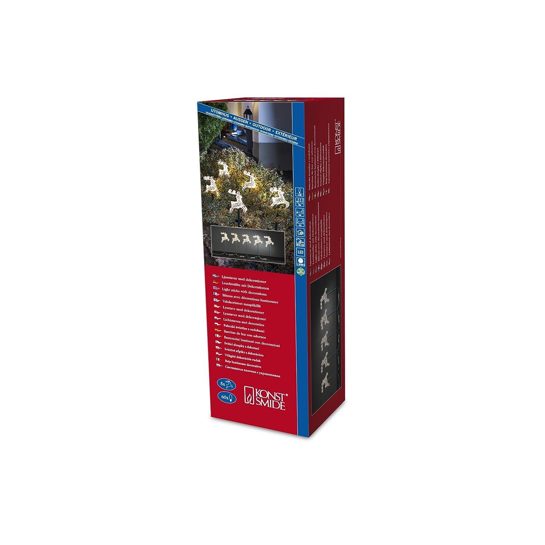 Konstsmide Decoration Outdoor 5 Garden Sticks with Reindeers, 60 LEDs - Warm White 4444-103
