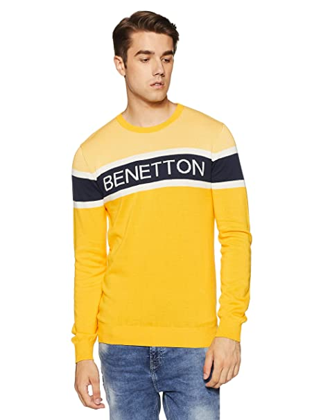 f32440d67e33 United Colors of Benetton Men s Sweater  Amazon.in  Clothing   Accessories