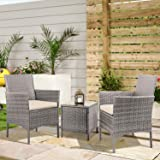 Devoko Patio Porch Furniture Sets 3 Pieces PE