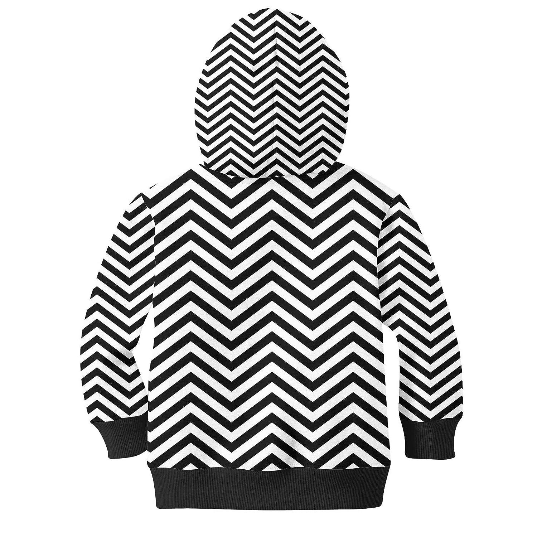 Chevron Stripes Kids Zip Up Hoodie Unisex