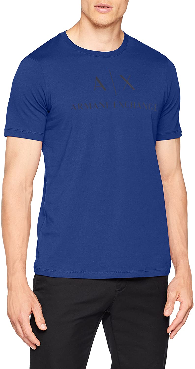 AX Armani Exchange Men's Crew Neck Logo Tee