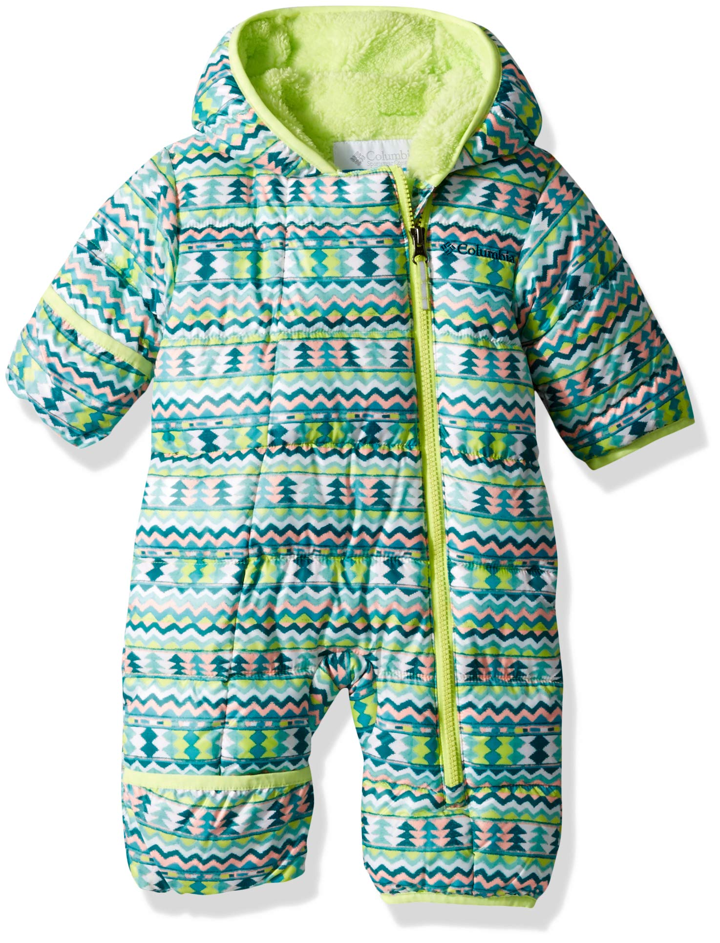 Columbia Unisex Baby Infant Frosty Freeze Bunting, Tippet Zigzag Print, 0/3 by Columbia