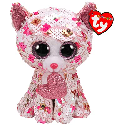 TY36340 Flippables Small Cupid The Cat Sequins Soft Toy, 15 cm, Multi-Coloured: Toys & Games