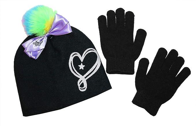 JoJo Siwa Accessories Beanie And Gloves Set For Girls  Cute Kids  Gloves 9abf07446eeb
