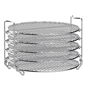 NLSD Dehydrator Stand Rack For Ninja Foodi Accesories, Compatible with Ninja Foodi Pressure Cooker and Air Fryer 6.5 qt & 8 qt, Food Grade Stainless Steel